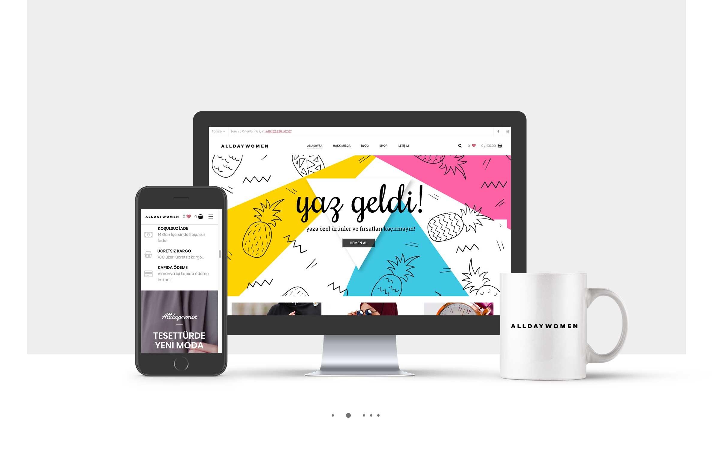 AllDayWomen Web-Design