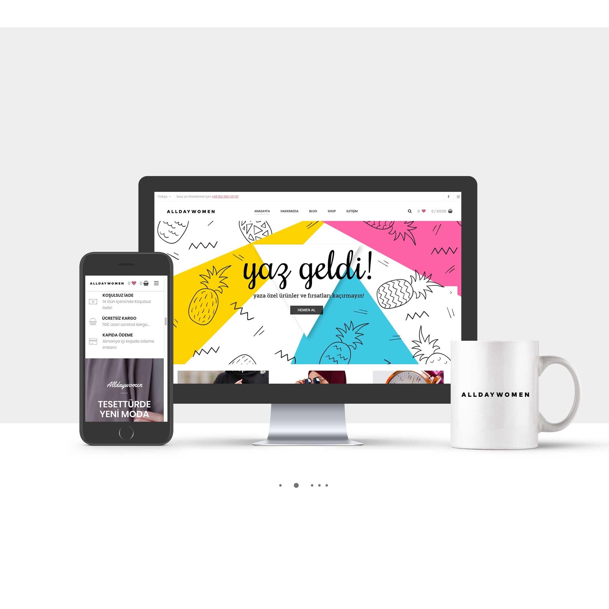 AllDayWomen Corporate Website Design