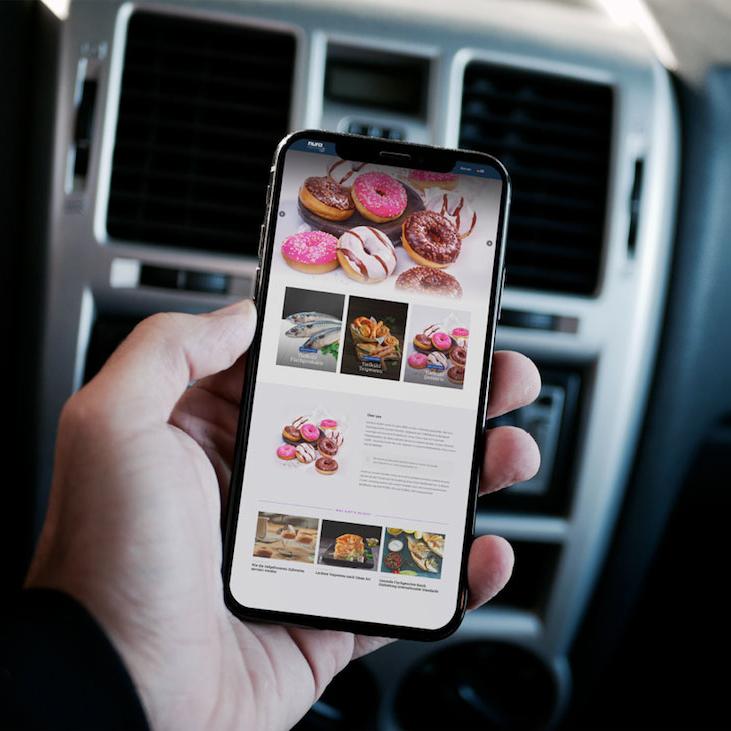 Nura Frozen Food Corporate Website Design