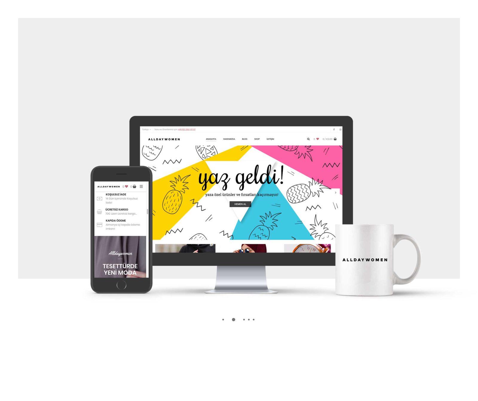 AllDayWomen Kurumsal Website Tasarımı