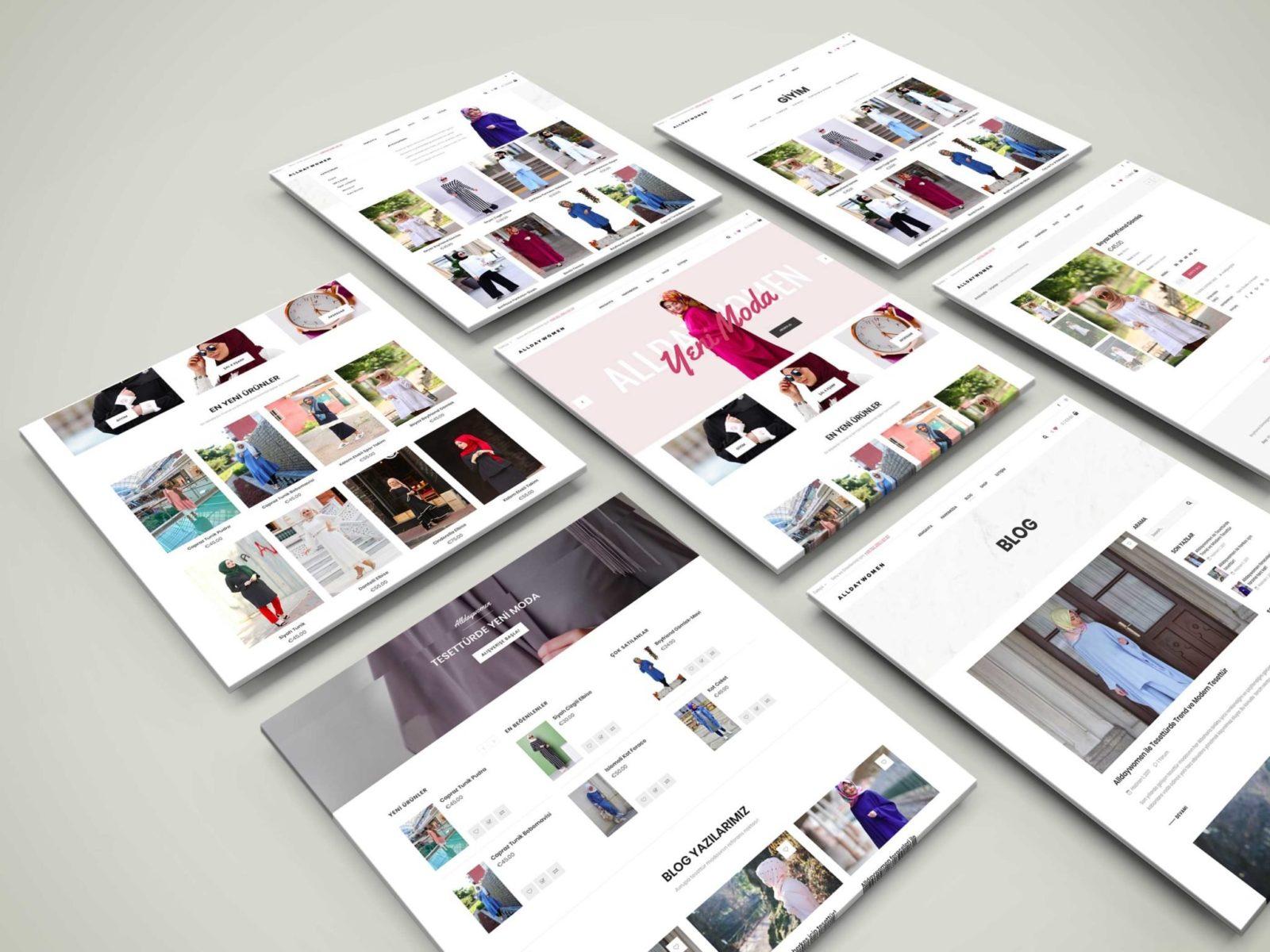 AllDayWomen Kurumsal Website Tasarımı 4