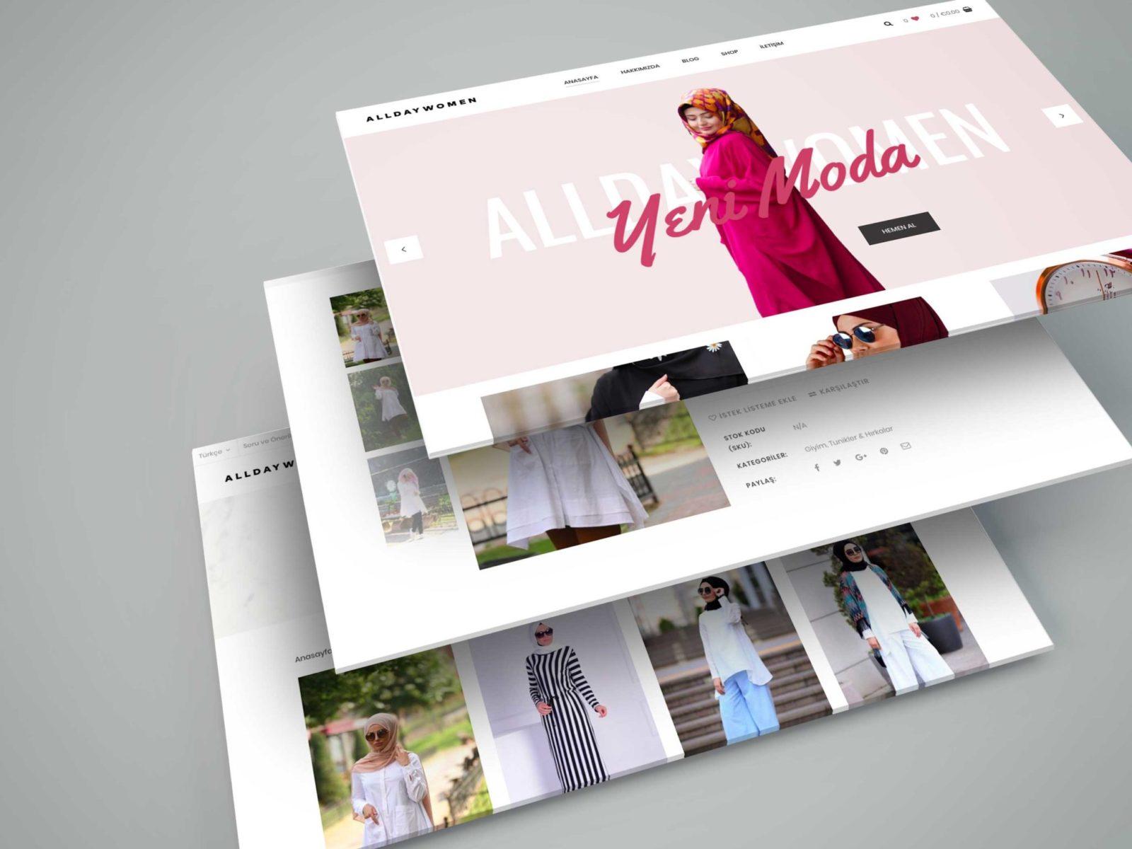 AllDayWomen Kurumsal Website Tasarımı 2