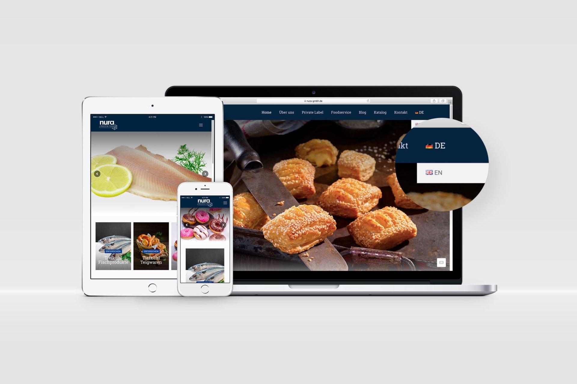 Nura Frozen Food Kurumsal Website Tasarimi 5
